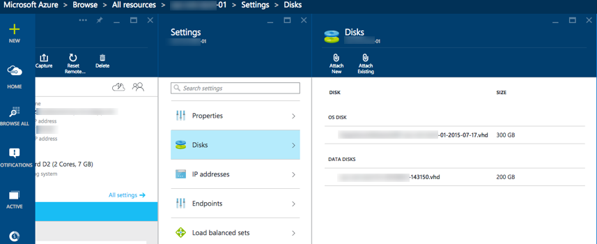 Expanding the primary (or other) disk in Azure