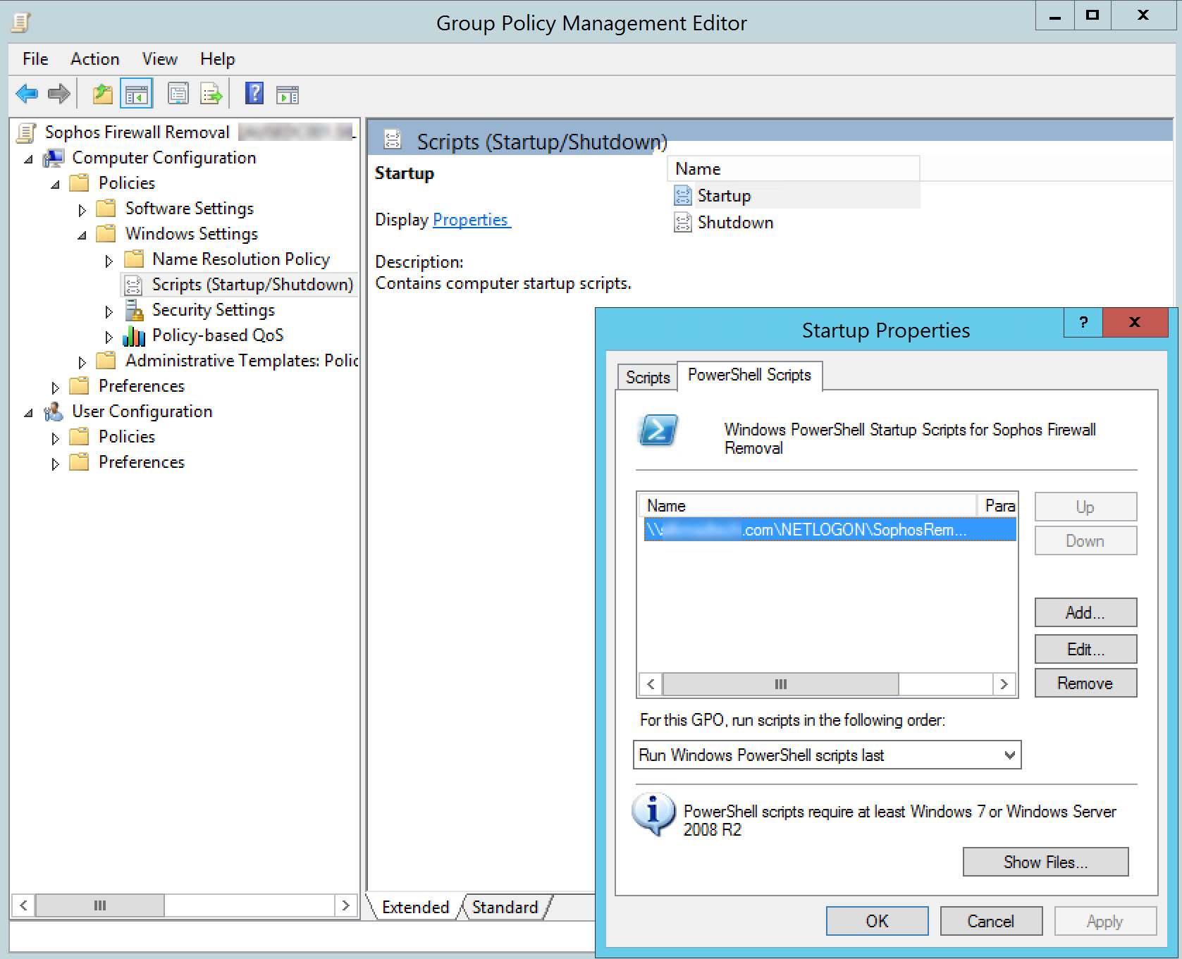 Group Policy Powershell And Sophos Firewall Removal Lightsprocket